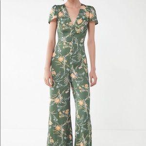 UO Matilda floral button-front jumpsuit.  Size XS